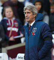 West Ham United manager Manuel Pellegrini <br /> <br /> Photographer Rob Newell/CameraSport<br /> <br /> The Premier League - West Ham United v Burnley - Saturday 3rd November 2018 - London Stadium - London<br /> <br /> World Copyright &copy; 2018 CameraSport. All rights reserved. 43 Linden Ave. Countesthorpe. Leicester. England. LE8 5PG - Tel: +44 (0) 116 277 4147 - admin@camerasport.com - www.camerasport.com
