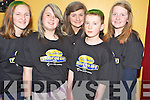 Pictured at the Shave or Dye event in the Beaufort Community Centre on Friday night were Caoimhe Clifford, Kate Courtney, Sarah Sheehan, Shane Murphy and Ailish Coffey.