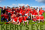 East Kerry celebrating their win over St Kierans in the Minor County Football Championship Final on Sunday.