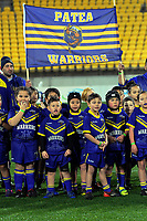Mini Mod junior league curtainraiser games before the National Rugby League match between the NZ Warriors and Cronulla Sharks at Westpac Stadium in Wellington, New Zealand on Friday, 19 July 2019. Photo: Dave Lintott / lintottphoto.co.nz