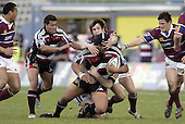 Luke Mealamu goes to ground during the Air NZ Cup game between the Counties Manukau Steelers and Southland played at Mt Smart Stadium on 3rd September 2006. Counties Manukau won 29 - 8.