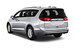 Car pictures of rear three quarter view of a 2018 Chrysler Pacifica Touring-L Plus 5 Door Mini Van angular rear