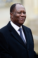 Alassane Ouattara - President de la R&eacute;publique de Cote d Ivoire<br /> Parigi 11-11-2018 <br /> Eliseo Pranzo Ufficiale Capi di Stato <br /> Commemorazione 100 anni dalla fine della Grande Guerra, Prima Guerra Mondiale <br /> Foto JB Autissier/Panoramic / Insidefoto