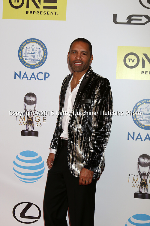 LOS ANGELES - FEB 5:  Patrick Faucette at the 47TH NAACP Image Awards Arrivals at the Pasadena Civic Auditorium on February 5, 2016 in Pasadena, CA