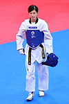 Miyu Yamada (JPN), <br /> AUGUST 23, 2018 - Taekwondo : <br /> Women's -49kg <br /> at Jakarta Convention Center Plenary Hall <br /> during the 2018 Jakarta Palembang Asian Games <br /> in Jakarta, Indonesia. <br /> (Photo by Naoki Nishimura/AFLO SPORT)