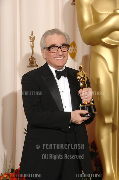 """Martin Scorsese - director of """"The Departed"""" - at the 79th Annual Academy Awards at the Kodak Theatre, Hollywood..February 26, 2007  Los Angeles, CA.Picture: Paul Smith / Featureflash"""
