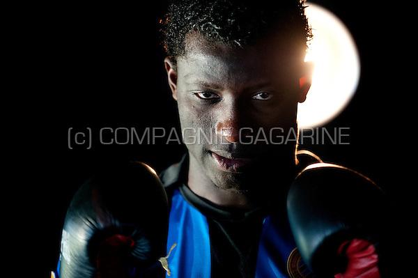 Nigerian football player Joseph Akpala (Belgium, 24/02/2012)