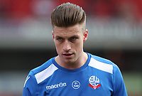 Bolton Wanderers' Reece Burke during the pre-match warm-up <br /> <br /> Photographer Rachel Holborn/CameraSport<br /> <br /> The EFL Sky Bet Championship - Barnsley v Bolton Wanderers - Saturday 14th April 2018 - Oakwell - Barnsley<br /> <br /> World Copyright &copy; 2018 CameraSport. All rights reserved. 43 Linden Ave. Countesthorpe. Leicester. England. LE8 5PG - Tel: +44 (0) 116 277 4147 - admin@camerasport.com - www.camerasport.com