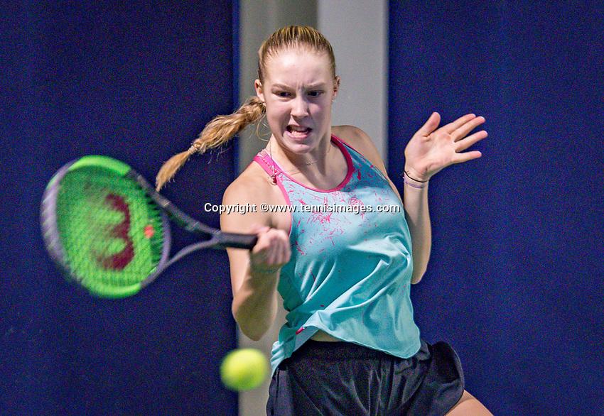 tHilversum, Netherlands, December 2, 2018, Winter Youth Circuit Masters, Melissa Boyden (NED) winner girls 16 years<br /> Photo: Tennisimages/Henk Koster