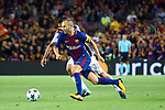 UEFA Champions League 2017/2018 - Matchday 1.<br /> FC Barcelona vs Juventus Football Club: 3-0.<br /> Andres Iniesta.