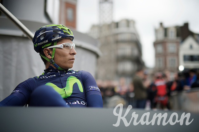 Nairo Quintana (COL/Movistar) relaxing before the race<br /> <br /> 101th Liège-Bastogne-Liège 2015