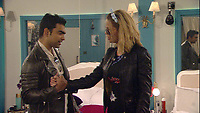 Celebrity Big Brother 2017<br /> Sarah Harding and Karthik Nagesan.<br /> *Editorial Use Only*<br /> CAP/KFS<br /> Image supplied by Capital Pictures
