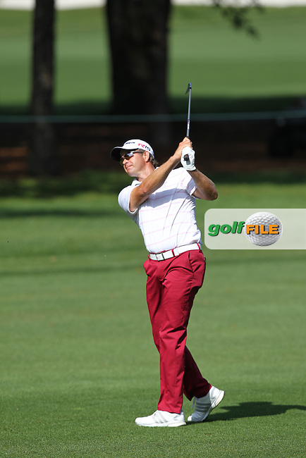 Retief Goosen of South Africa plays his second shot from the 10th fairway during the 3rd round of the Valspar Championship, Innisbrook Resort (Copperhead), Palm Harbor, Florida, USA<br /> Picture: Peter Mulhy / Golffile