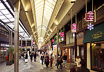 Shinkyogoku covered street shopping district, Teramachi shopping arcade, full of people and stores, Kyoto, Japan 2017