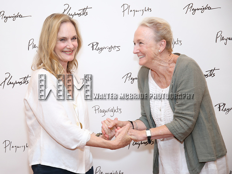 Lisa Emery and Kathleen Chalfant attend the meet & Greet for Playwrights Horizons New York Premiere pf 'For Peter Pan on her 70th Birthday' on July 25, 2017 at the Playwrights Horizons Studios at  in New York City.