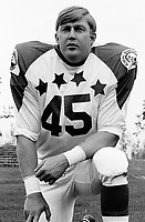 Basil Bark 1970 Canadian Football League Allstar team. Copyright photograph Ted Grant