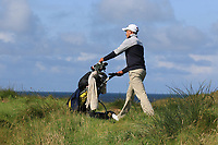 Charlie Denvir (Elm Park) on the 14th during Matchplay Semi-Finals of the AIG Irish Amateur Close Championship 2019 in Ballybunion Golf Club, Ballybunion, Co. Kerry on Wednesday 7th August 2019.<br /> <br /> Picture:  Thos Caffrey / www.golffile.ie<br /> <br /> All photos usage must carry mandatory copyright credit (© Golffile | Thos Caffrey)