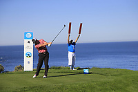 D.A. Points (USA) tees off the 4th tee at Spyglass Hill during Thursday's Round 1 of the 2018 AT&amp;T Pebble Beach Pro-Am, held over 3 courses Pebble Beach, Spyglass Hill and Monterey, California, USA. 8th February 2018.<br /> Picture: Eoin Clarke | Golffile<br /> <br /> <br /> All photos usage must carry mandatory copyright credit (&copy; Golffile | Eoin Clarke)