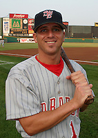 August 21, 2003:  David Francia of the Scranton Wilkes Barre Red Barons during a game at Frontier Field in Rochester, New York.  Photo by:  Mike Janes/Four Seam Images