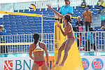 Azusa Futami (JPN), <br /> AUGUST 20, 2018 - Beach Volleyball : <br /> Women's Preliminary Round <br /> at Jakabaring Sport Center Beach Volleyball Court <br /> during the 2018 Jakarta Palembang Asian Games <br /> in Palembang, Indonesia. <br /> (Photo by Yohei Osada/AFLO SPORT)