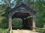 The Pine Brook Bridge, a covered bridge in Waitsfield, Vermont, built 1870