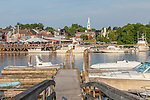 Damariscotta seen from Waldo's Wharf in Newcastle, Maine, USA