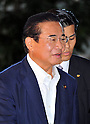 September 2, 2011, Tokyo, Japan - Kenji Yamaoka, appointed as National Public Safety Commission chairman, arrives at Kantei, prime ministers official residence, in Tokyo on Friday, September 2, 2011. Japans new Prime Minister Yoshihiko Noda has appointed his first cabinet ministers, picking up younger and relatively unknown members of his ruling Democratic Party of Japan into some key positions. (Photo by Natsuki Sakai/AFLO)