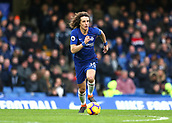 2nd February 2019, Stamford Bridge, London, England; EPL Premier League football, Chelsea versus Huddersfield Town; David Luiz of Chelsea on the ball