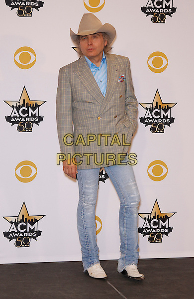 19 April 2015 - Arlington, TX -   Dwight Yoakam.  The 2015 ACM Awards at AT&amp;T Stadium- Press Room<br /> CAP/ADM/MJT<br /> &copy; MJT/AdMedia/Capital Pictures