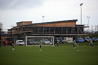 SWANSEA, WALES - JANUARY 28: The new facility nearing completion at the club's training ground during the Swansea City Training Session on January 28, 2016 in Swansea, Wales.