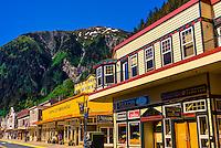 Street scene, Juneau, Alaska USA.
