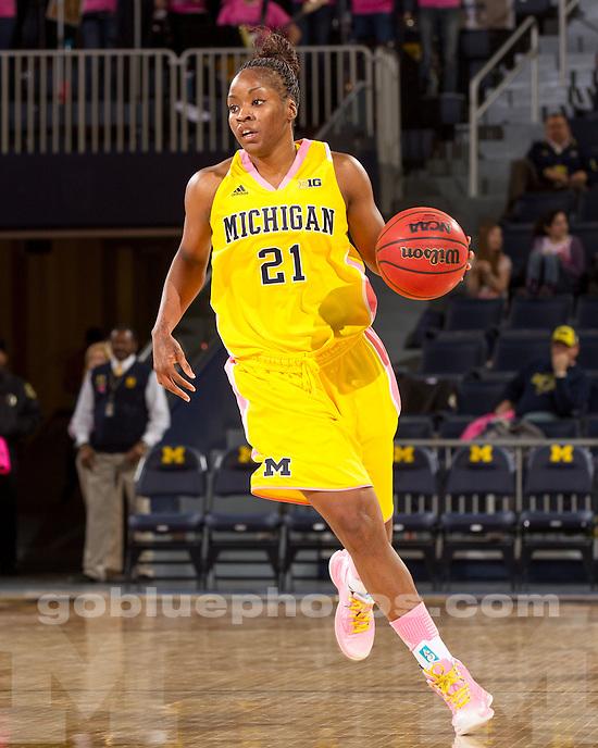 The University of Michigan women's basketball team beat Illinois, 72-69, at Crisler Center in Ann Arbor, Mich., on February 7, 2013.