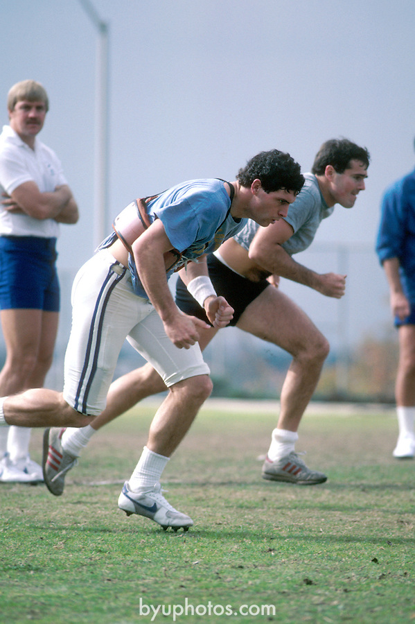 DEC 83-P7<br /> <br /> 8 Steve Young. Running in Practice.<br /> <br /> 1983<br /> <br /> Photo by Mark Philbrick/BYU<br /> <br /> &copy; BYU PHOTO 2009<br /> All Rights Reserved<br /> photo@byu.edu  (801)422-7322