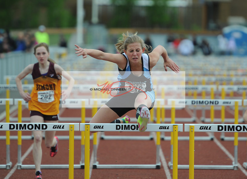 Chugiak's Jourdin Bedwell finished second in the 100 meter hurdle preliminaries at the Region IV Track and Field Championships.  Photo by Michael Dinneen for the Star