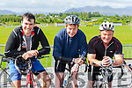 tomas rohan Castlegregory, Vince Casey Killarney and Kevin O'Leary Kilcummin on their bikes at the Coolick NS cycle on Saturday