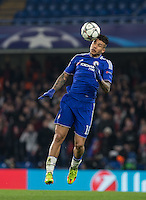 Kenedy of Chelsea in the air during the UEFA Champions League Round of 16 2nd leg match between Chelsea and PSG at Stamford Bridge, London, England on 9 March 2016. Photo by Andy Rowland.
