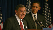 Washington, DC - January 9, 2009 -- Leon Panetta speaks at a press briefing where United States President-elect Barack Obama announced that Panetta was his choice to be the Director of the Central Intelligence Agency (CIA) on Friday, January 9, 2009. .Credit: Dennis Brack - Pool via CNP