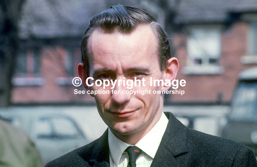 Oliver Napier, solicitor, Belfast, N Ireland, founder member, Alliance Party of N Ireland. 197004210135<br /> <br /> Copyright Image from Victor Patterson,<br /> 54 Dorchester Park, <br /> Belfast, UK, BT9 <br /> <br /> t1: +44 28 9066 1296 (from Rep of Ireland 048 90661296)<br /> t2: +44 28 9002 2446 (from Rep of Ireland 048 9002 2446)<br /> <br /> m: +44 7802 353836<br /> <br /> e: victorpatterson@me.com<br /> www.victorpatterson.com<br /> <br /> Please see my Terms and Conditions of Use at www.victorpatterson.com. It is IMPORTANT that you familiarise yourself with them.<br /> <br /> Images used on the Internet must be visibly watermarked i.e. &copy; Victor Patterson<br /> within the body of the image and copyright metadata must not be deleted. Images <br /> used on the Internet have a size restriction of 4kbs and will be chargeable at current<br />  NUJ rates unless agreed otherwise.<br /> <br /> This image is only available for the use of the recipient i.e. television station, newspaper, magazine, book publisher, etc, and must not be passed on to any third party. It is also downloaded on condition that each and every usage is notified within 7 days to victorpatterson@me.com<br /> <br /> The right of Victor Patterson to be identified as the author is asserted in accordance with The Copyright Designs And Patents Act (1988). All moral rights are asserted.