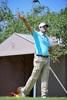 Adam Hadwin (CAN) watches his tee shot on 10 during round 2 of the Valero Texas Open, AT&amp;T Oaks Course, TPC San Antonio, San Antonio, Texas, USA. 4/21/2017.<br /> Picture: Golffile | Ken Murray<br /> <br /> <br /> All photo usage must carry mandatory copyright credit (&copy; Golffile | Ken Murray)