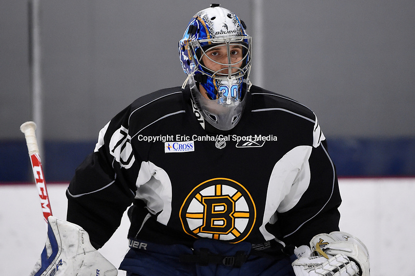 July 14, 2015 - Wilmington, Massachusetts, U.S. - Goalie Daniel Vladar (70) takes part in the Boston Bruins development camp held at Ristuccia Arena in Wilmington Massachusetts. Eric Canha/CSM