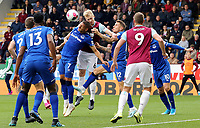 Burnley's Ben Mee vies for possession with Everton's Richarlison<br /> <br /> Photographer Rich Linley/CameraSport<br /> <br /> The Premier League - Burnley v Everton - Saturday 5th October 2019 - Turf Moor - Burnley<br /> <br /> World Copyright © 2019 CameraSport. All rights reserved. 43 Linden Ave. Countesthorpe. Leicester. England. LE8 5PG - Tel: +44 (0) 116 277 4147 - admin@camerasport.com - www.camerasport.com