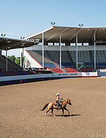 Miss Rodeo Colorado 2016 contestant Alex Hyland during the horsemanship competition at the Miss Rodeo Queen Colorado competition at the Greely Stampede in Greely, Colorado, July 1, 2015.<br /> <br /> Photo by Matt Nager