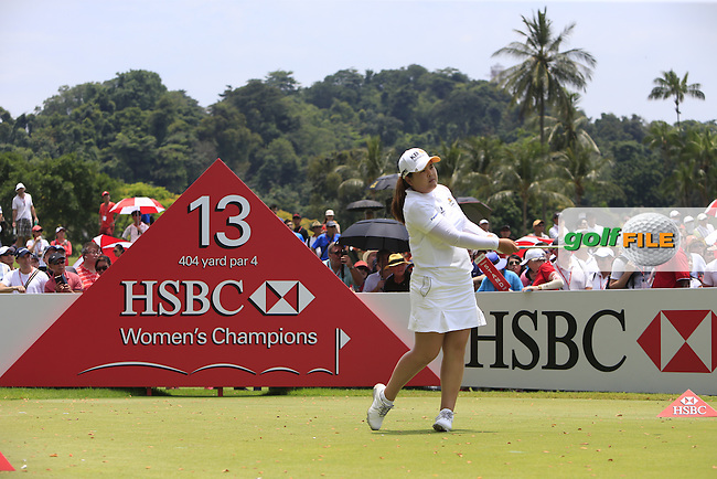 Inbee Park (KOR) on the 13th tee during Round 4 of the HSBC Women's Champions at the Sentosa Golf Club, The Serapong Course in Singapore on Sunday 8th March 2015.<br /> Picture:  Thos Caffrey / www.golffile.ie