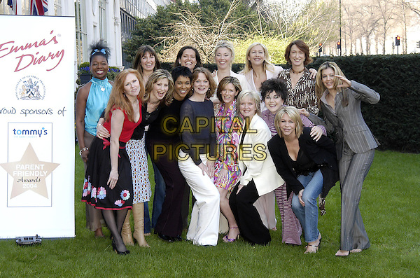 FLOELLA BENJAMIN, STACEY YOUNG, TAMARA BECKWITH, TANIA BRYER, CAROL DECKER, JULIA CARLING, SAMANTHA BOND, ANDREA CATHERWOOD, BERNIE NOLAN, DR MIRIAM STOPPARD, LESLIE ASH.Tommy's Parent Friendly Awards at the Mandarin Oriental, Knightsbridge.31 March 2004.www.capitalpictures.com.sales@capitalpictures.com.©Capital Pictures
