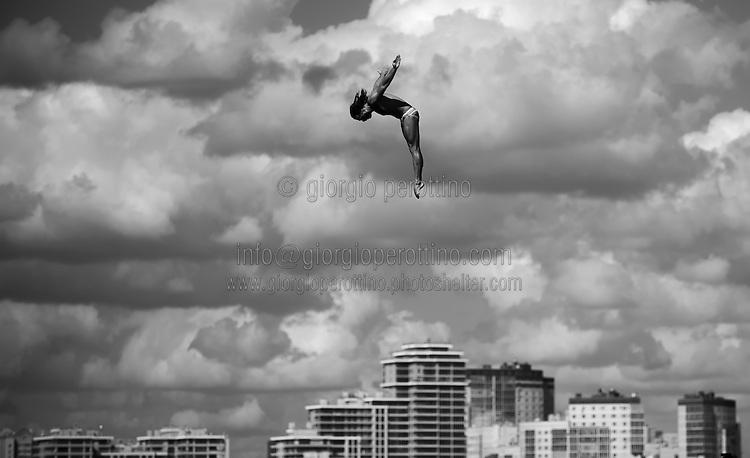 SPASOV Todor BUL<br /> High Diving - Men's 27m high dive preliminaries<br /> Day 11 03/08/2015<br /> XVI FINA World Championships Aquatics Swimming<br /> Kazan Tatarstan RUS July 24 - Aug. 9 2015 <br /> Photo Giorgio Perottino