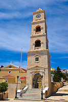 Bell Tower of Saint George Orthodox Church [ Syros ?????????? ??. ???????? ] Ermoupolis, Syros Island [ ????? ] , Greek Cyclades Islands