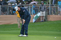 Padraig Harrington (IRL) barely misses his birdie putt on 18 during day 3 of the Valero Texas Open, at the TPC San Antonio Oaks Course, San Antonio, Texas, USA. 4/6/2019.<br /> Picture: Golffile | Ken Murray<br /> <br /> <br /> All photo usage must carry mandatory copyright credit (© Golffile | Ken Murray)