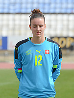 20180305 - LARNACA , CYPRUS : Swiss  pictured during a women's soccer game between Switzerland and Wales , on monday 5 March 2018 at GSZ Stadium in Larnaca , Cyprus . This is the third game in group A for Switzerland and Wales during the Cyprus Womens Cup , a prestigious women soccer tournament as a preparation on the World Cup 2019 qualification duels. PHOTO SPORTPIX.BE   DAVID CATRY