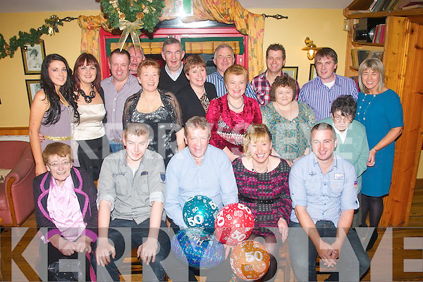Gerard O'Connor,Ballymac,Tralee got a Hugh surprise last Saturday night when he went to Stokers Lodge bar/resaturant,Clounalour,Tralee to find a massive group of family and friends there to celebrate his 50th birthday with him.