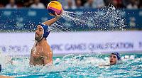 5 Alex GIORGETTI ITA<br /> FINA Men's Water Polo Olympic Games Qualifications Tournament 2016<br /> quarter final<br /> Romania ROU (White) Vs Italy ITA (Blue)<br /> Trieste, Italy - Swimming Pool Bruno Bianchi<br /> Day 06  08-04-2016<br /> Photo G.Scala/Insidefoto/Deepbluemedia